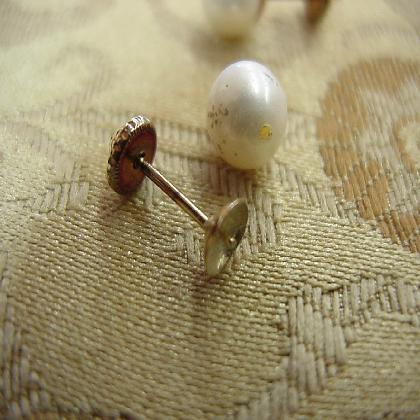 Broken White Stud Pearl Earring Repair