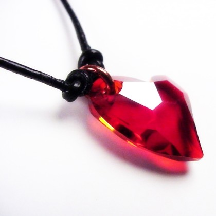 Small red heart crystal pendant necklace tiny heart magma crystal heart necklacet aloadofball Gallery