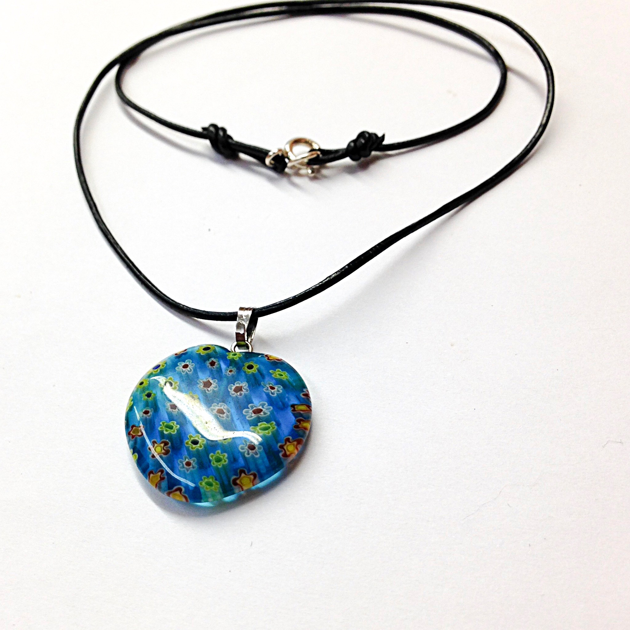 blue n cobalt necklace opal ua clover