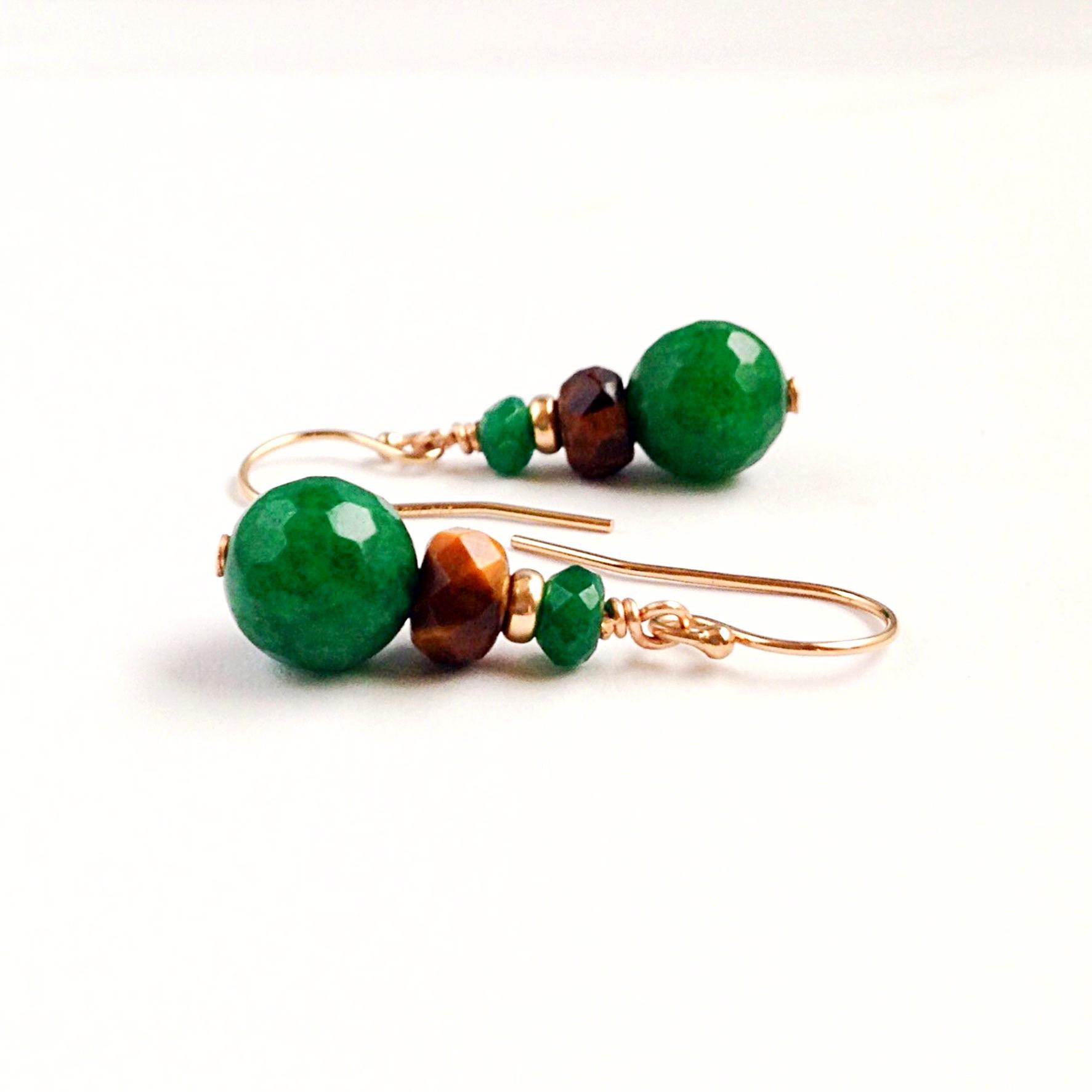 Jade Tiger Earrings