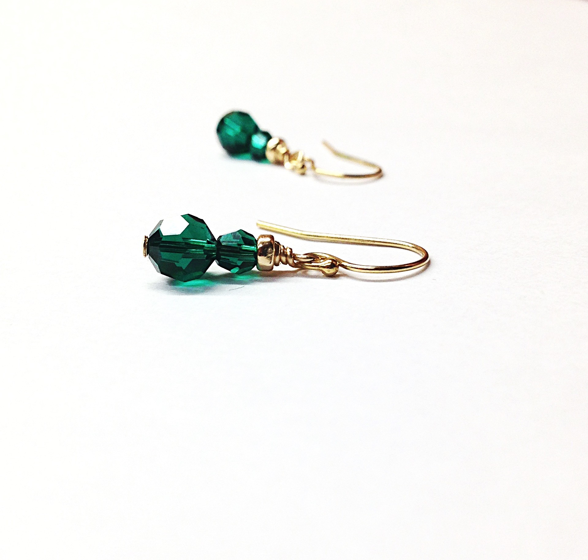 com stone earrings green stud caellisar shop with stones gold white