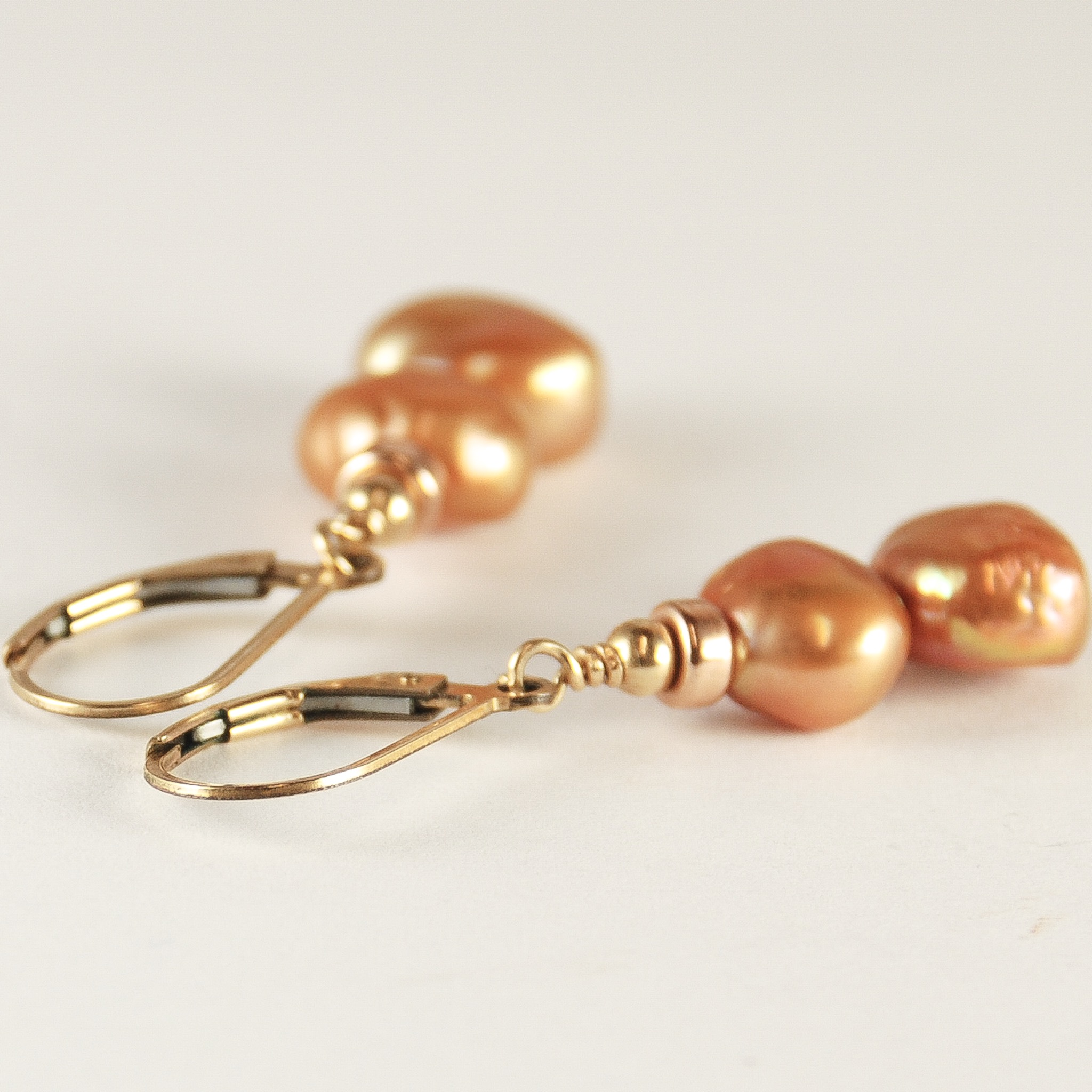 diy drop earrings steps pearl real
