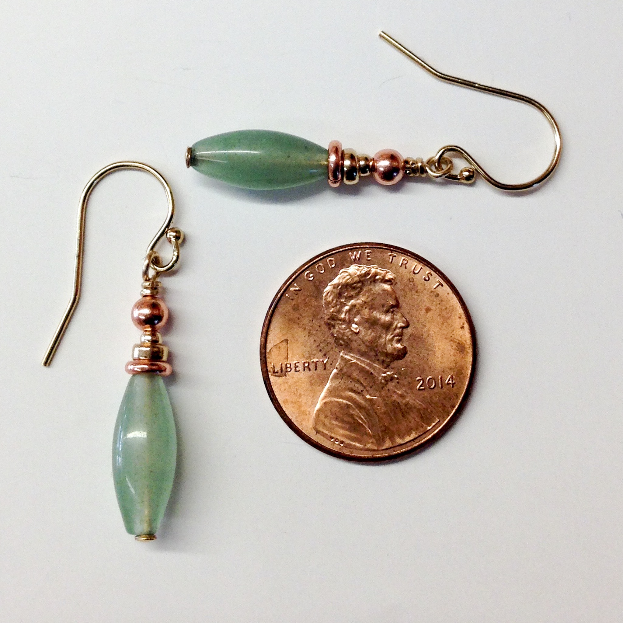7th Anniversary Gifts For Women Copper Earrings Aventurine
