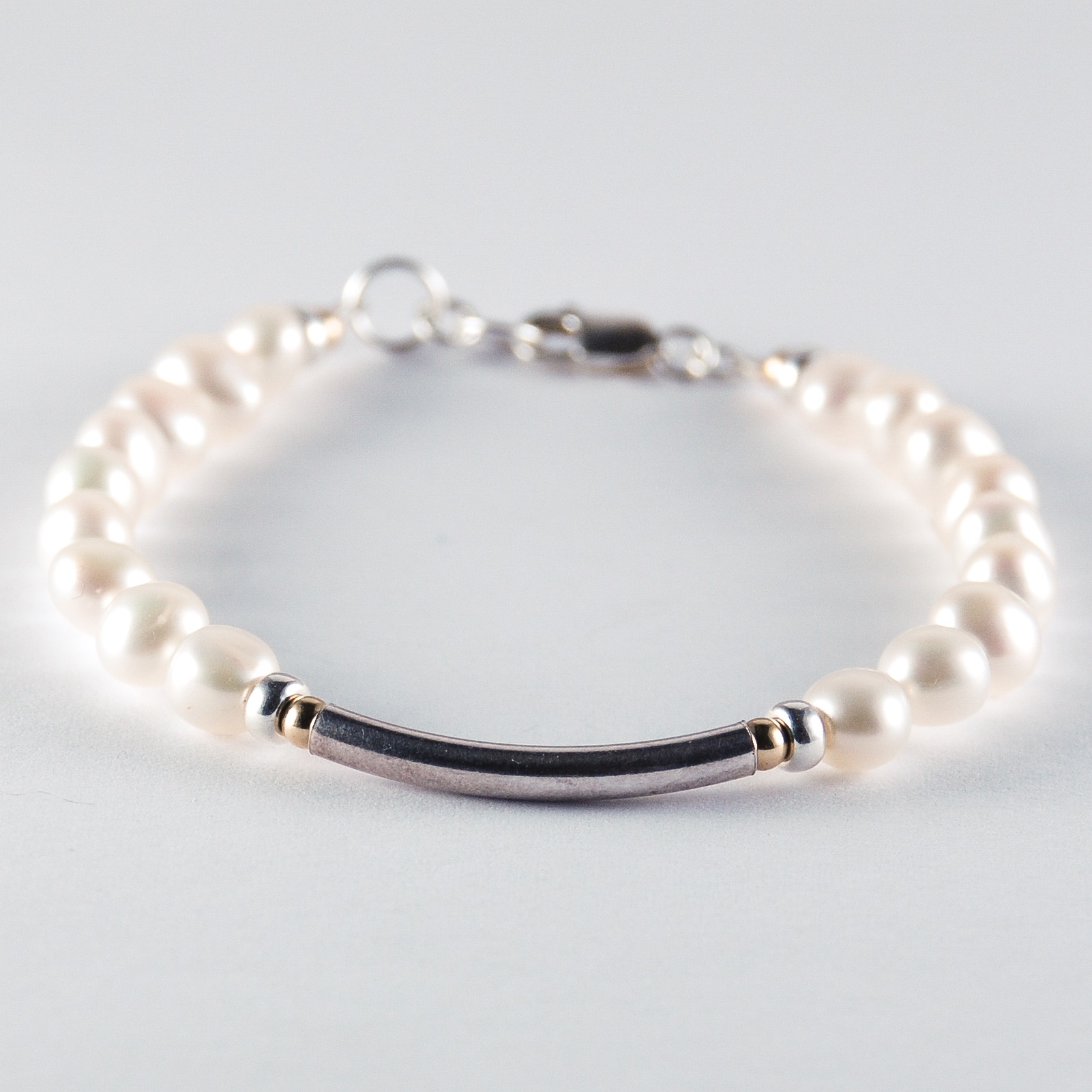 shop fresh pearls mixed water dark bracelet