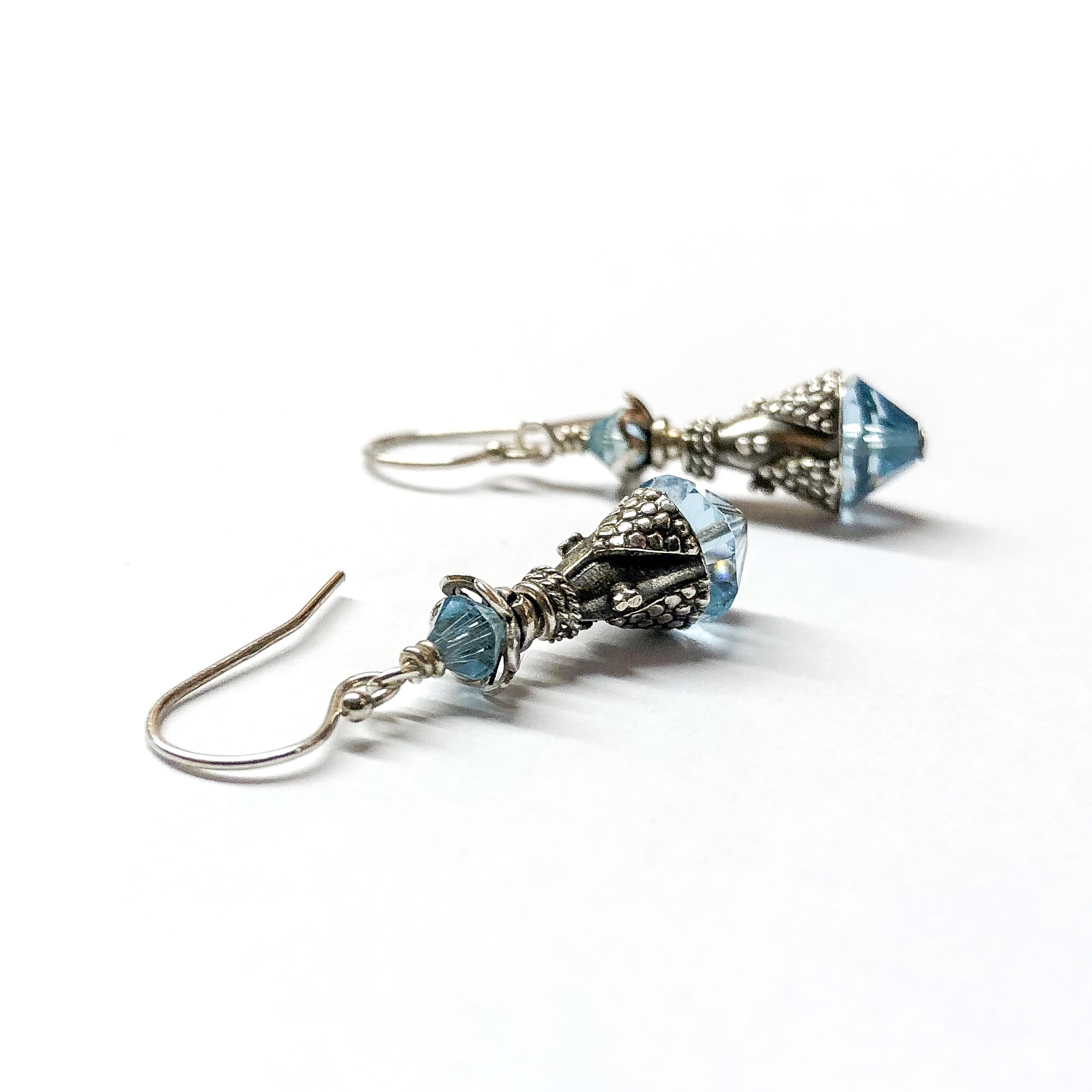 swarovski earrings crystals with march hc titanium products birthstone created