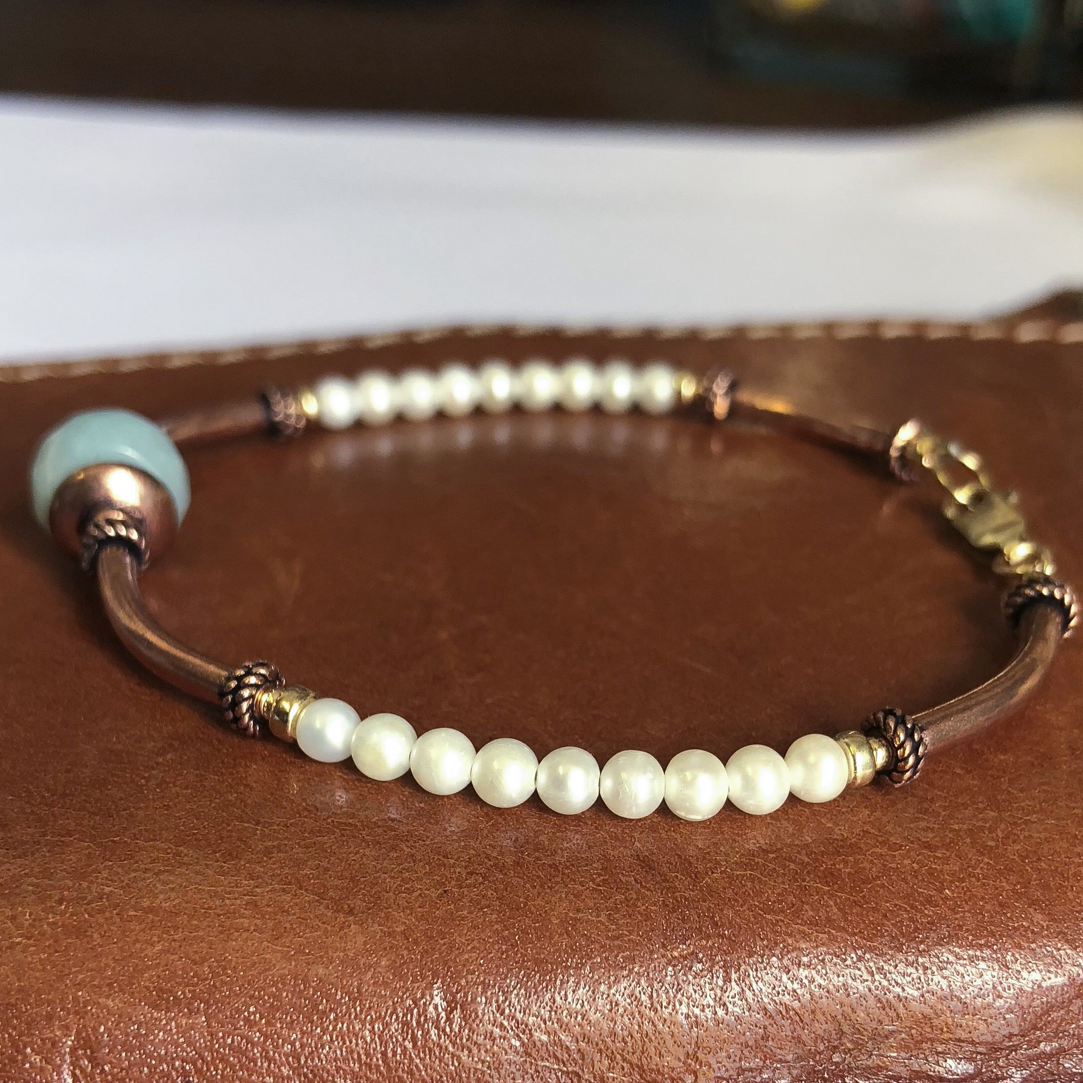 White Pearl Bracelet 3rd 12th 30th Anniversary Gifts For Women Her Wife Jewelry